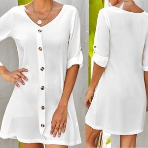 Dresses & Skirts - NEW IN! Breezy Button Down White Summer Dress